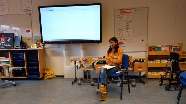 Druk bezig mijn verhaal te vertellen tijdens de workshop Cerebrale Parese en een kinderwens.
