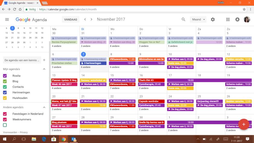 Het nieuwe uiterlijk van Google Calendar.
