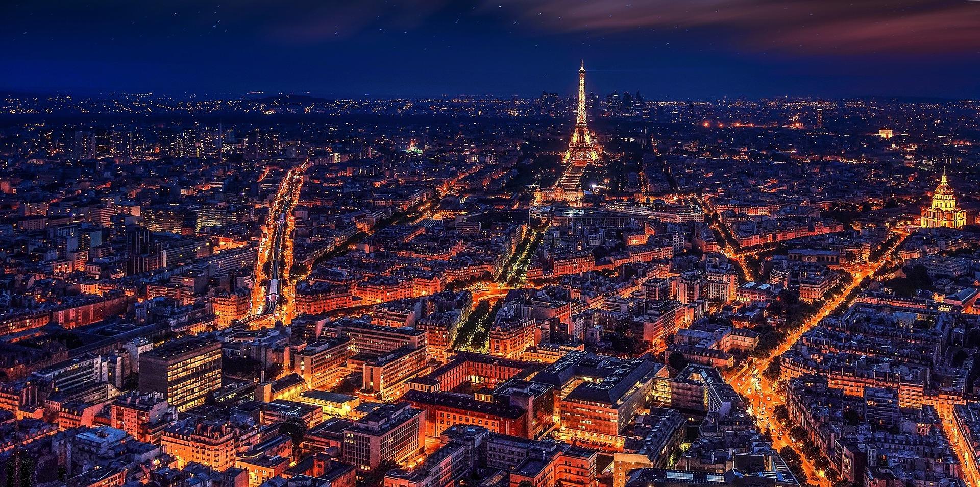Lichtpuntjes in Parijs rust