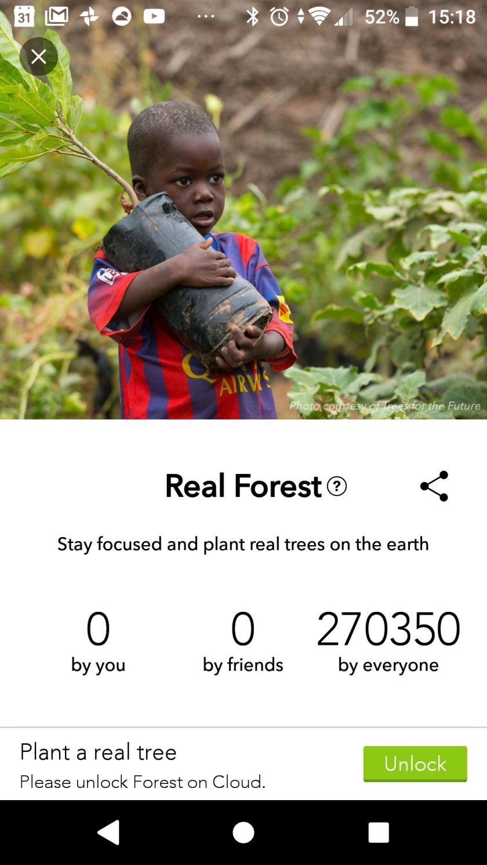 Forest plant met jouw steun ook echte bomen.