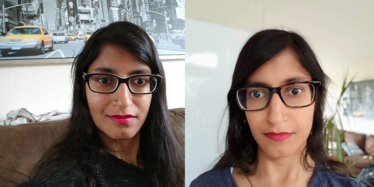 Mijn oude (links) en nieuwe (rechts) bril.