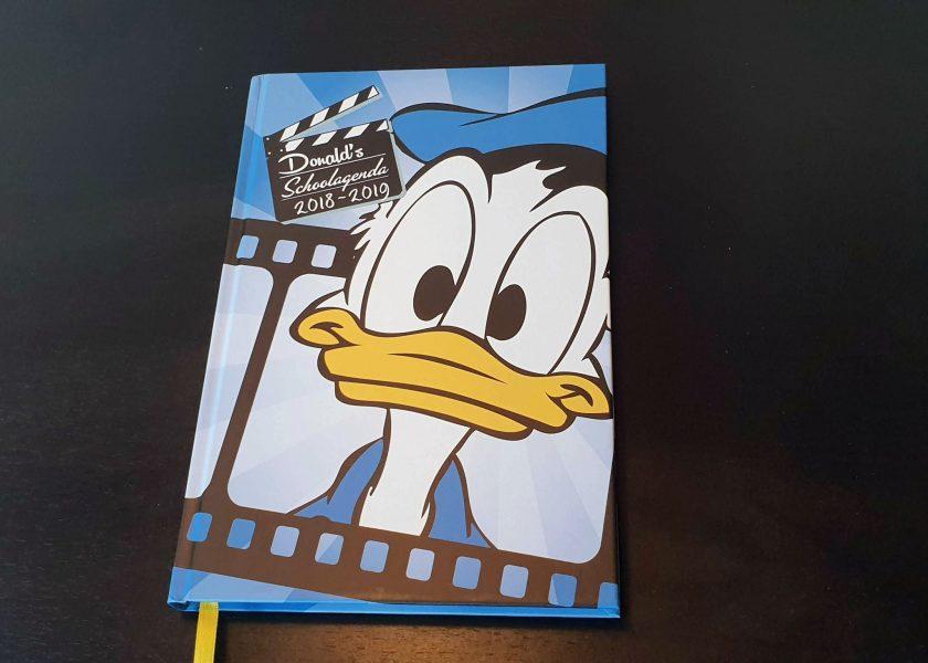 De schoolagenda van Donald Duck.