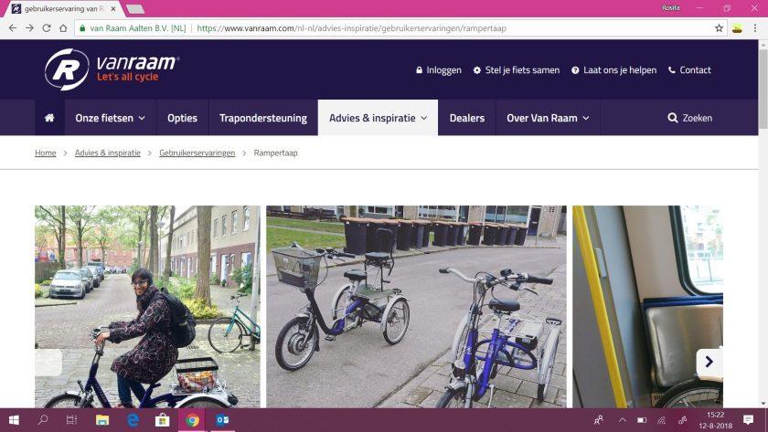 Mijn gebruikerservaring op de website van Van Raam fietsen.
