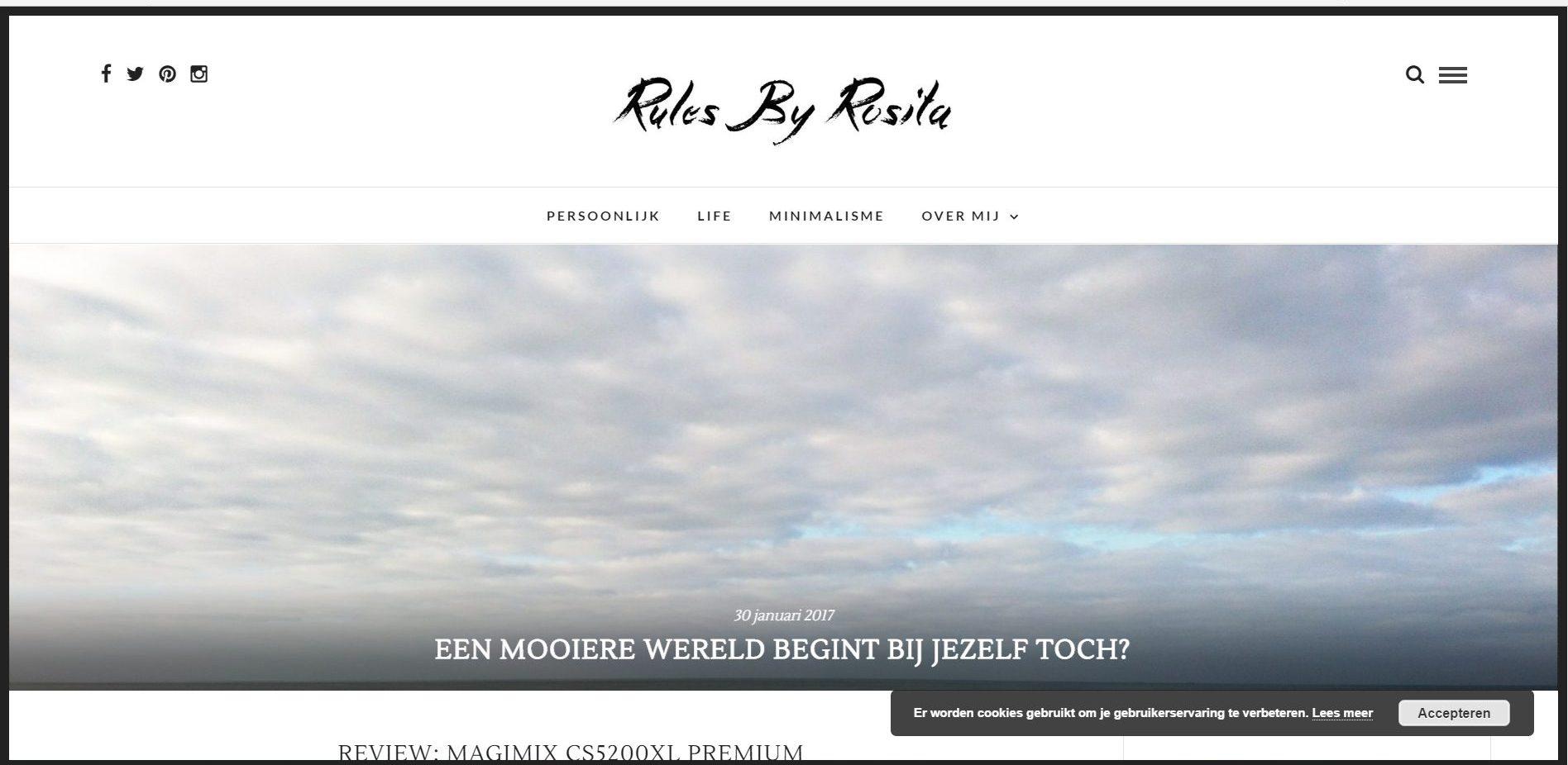 Zo zag mijn blog eruit toen ik net begon 5 jaar geleden