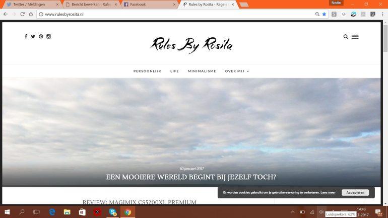 Zo zag mijn blog eruit toen ik net begon.