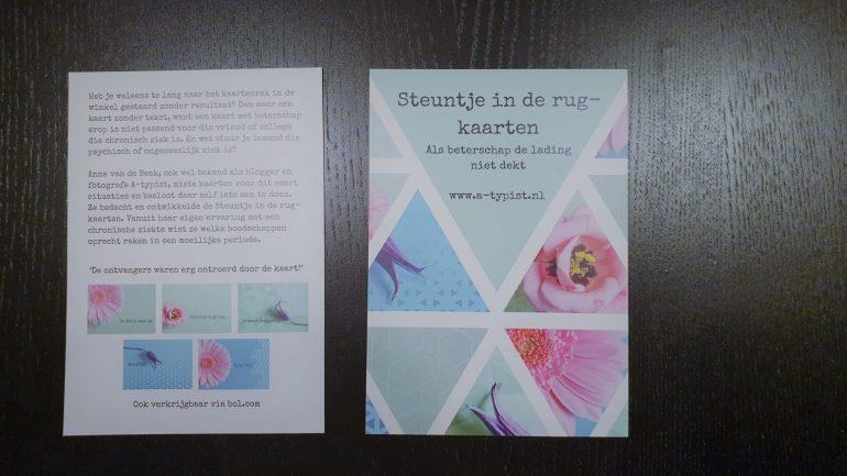 De flyer van de Steuntje in de rug-kaarten