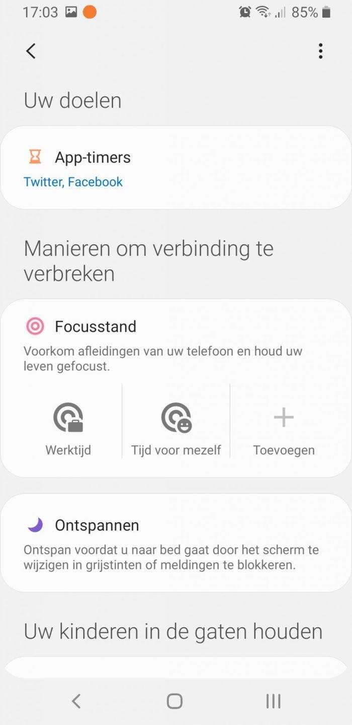 Digitaal Welzijn van Samsung