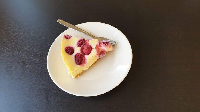 Een punt cheesecake