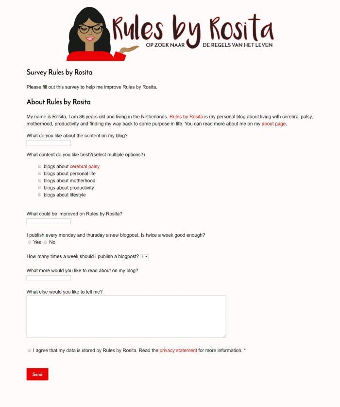 Een screenshot van mijn zelfgebouwde website.