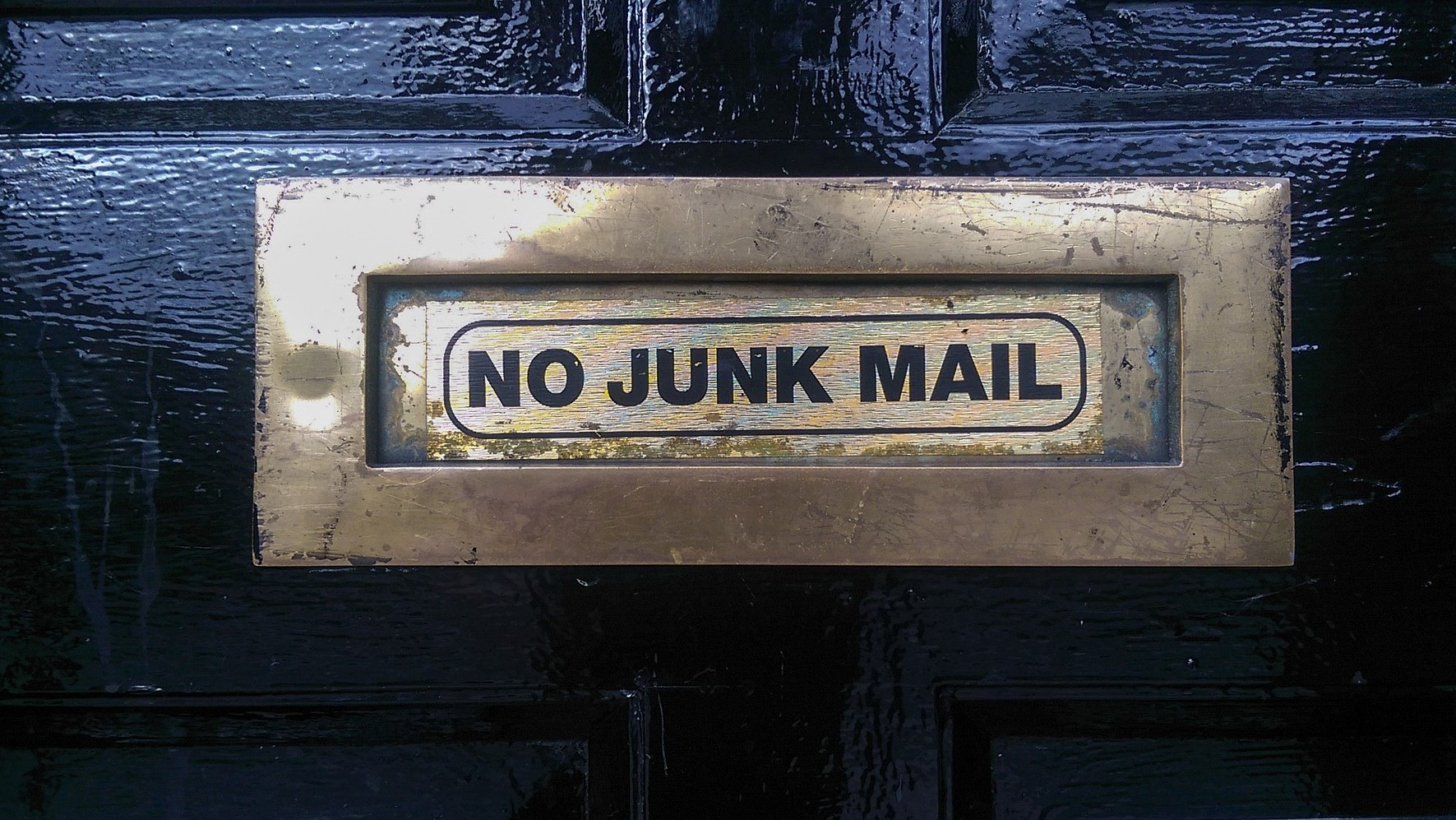 No junkmil in my mailbox