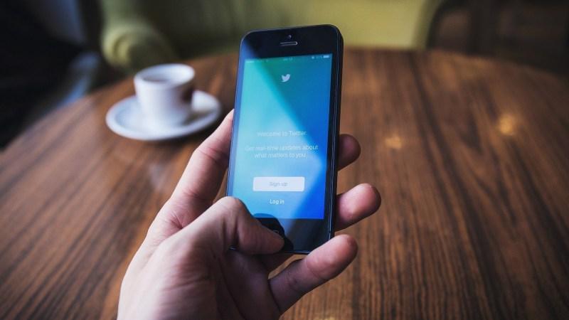 Twitter op een smartphone