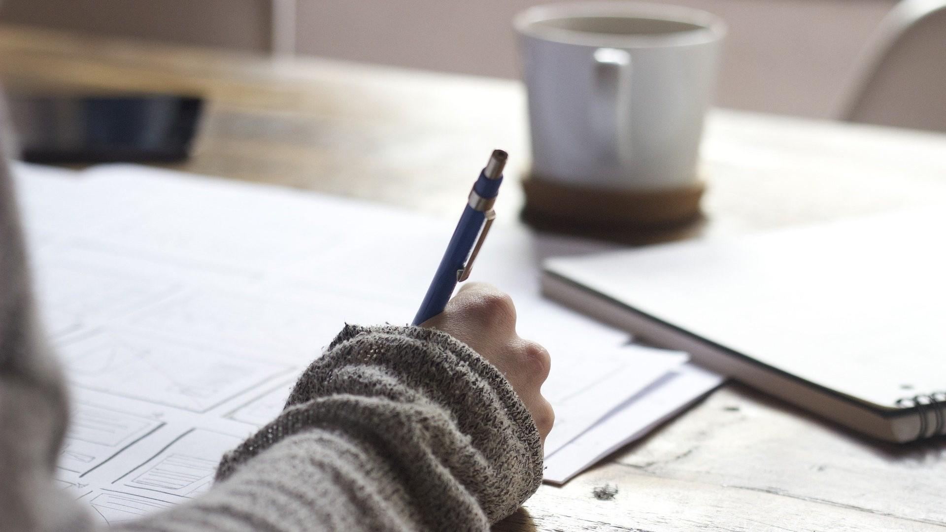 Focussen als je aan het schrijven bent
