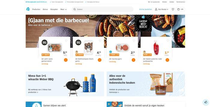 De website van Albert Heijn. Simpel je boodschappen bestellen