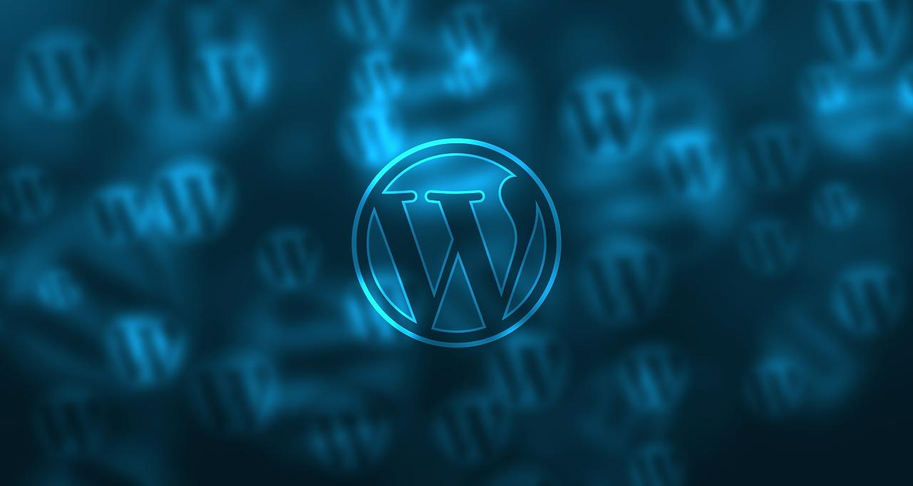 Het logo van WordPress: het gaat niet zo lekker met de blog