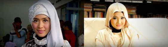Baju Muslim ala April dan Fatin