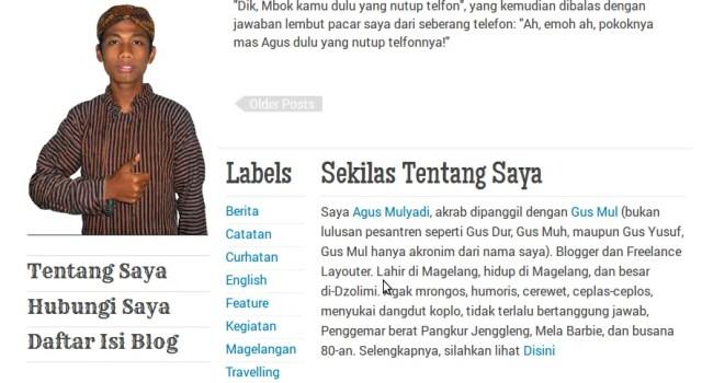 Tampilan Footer Blog AgusMulyadi.Web.Id