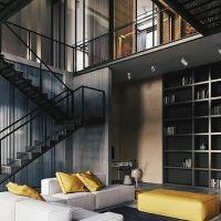 Inspirasi design loft tangga dan void ruang tamu atau keluarga