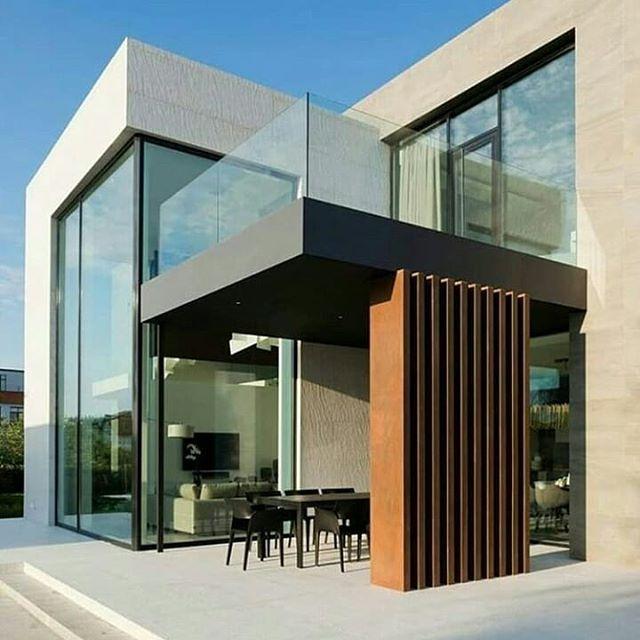 Rumah minimalis dengan teras yang unik