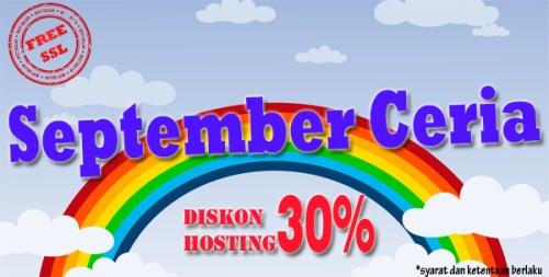 September ceria, diskon hosting 30%