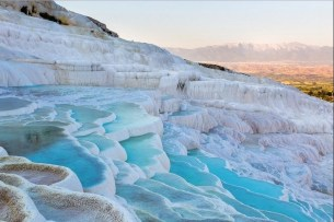Pamukkale Travertine Terraces, Turkey Extra-ordinary and Exceptional Pools; Soak Yourself Up