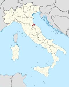 Ubicación de Misano Adriático en Italia