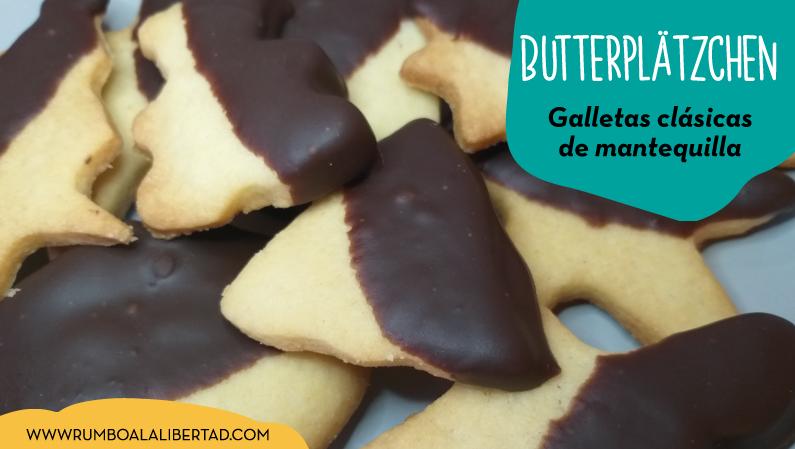 Galletas de navidad de mantequilla fáciles. Receta alemana de Butterplätzchen