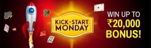 Kick-start Mondays at Junglee Rummy