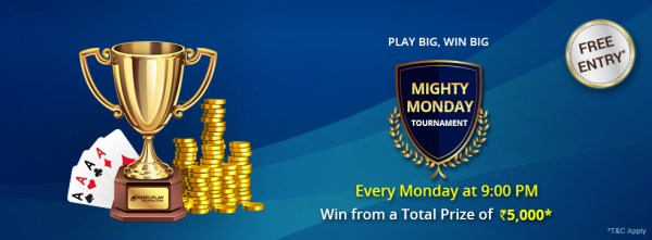 mighty monday tourney at khelplay
