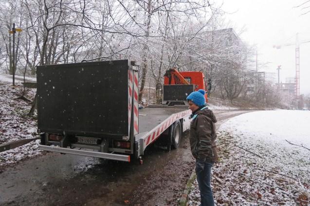 Dank Thomas und der ERZ konnten wir den Wagen transportieren