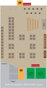 Fort Lauderdale Convention Center - Rum Renaissance Festival Exhibit Map