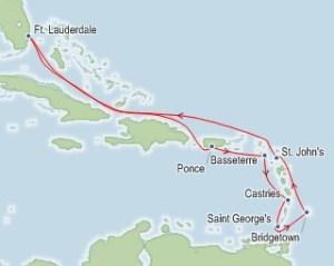 2018 Rum Cruise Map