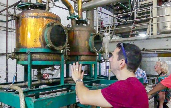 Caribbean Rum Cruise - legendary copper pot stills at St. Lucia Distillery