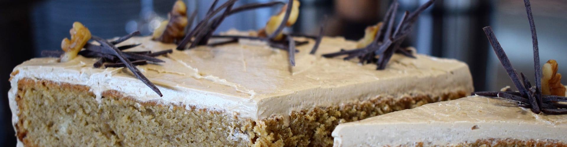 Coffe cake at Rumwell Farm Shop