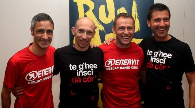 La conferenza Top Runners che si  tenuta questa mattina alla vigilia della Milano Marathon, 2 aprile 2016. ANSA / MATTEO BAZZI