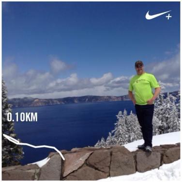 Crater Lake, Oregon .. 100m sprint!