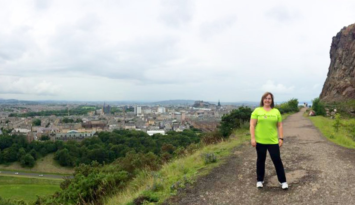 Andria at Salisbury Crags by Arthur's Seat, Edinburgh, Scotland