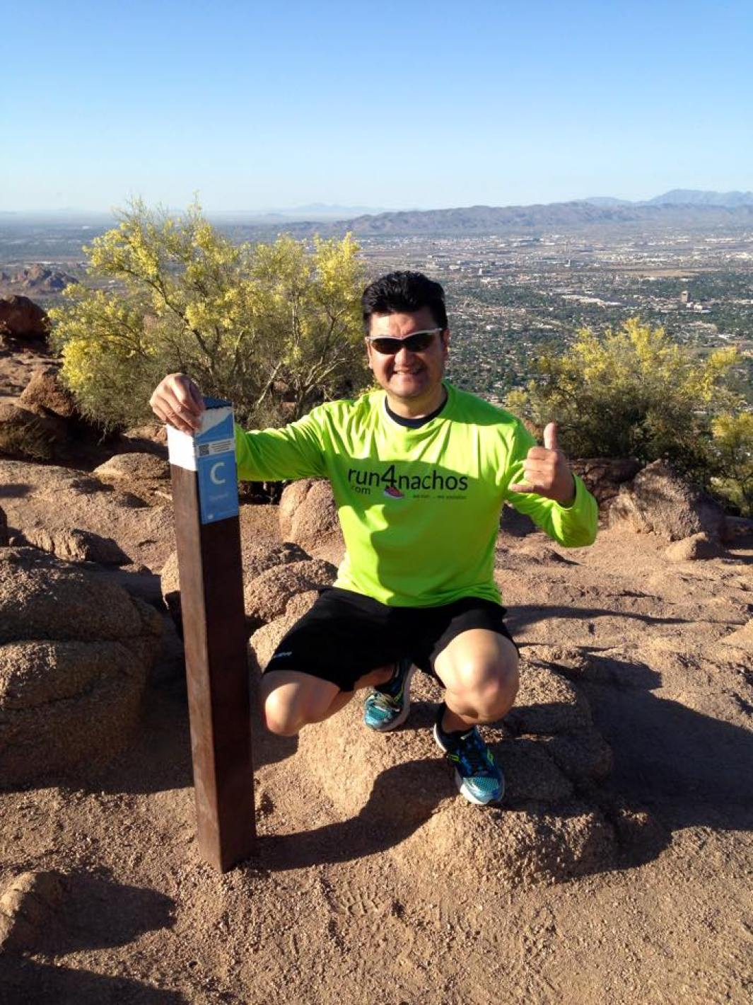 Roger at the summit of Camelback Mountain, Phoenix.