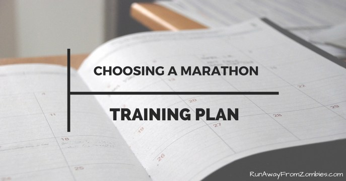 Choosing a marathon training plan