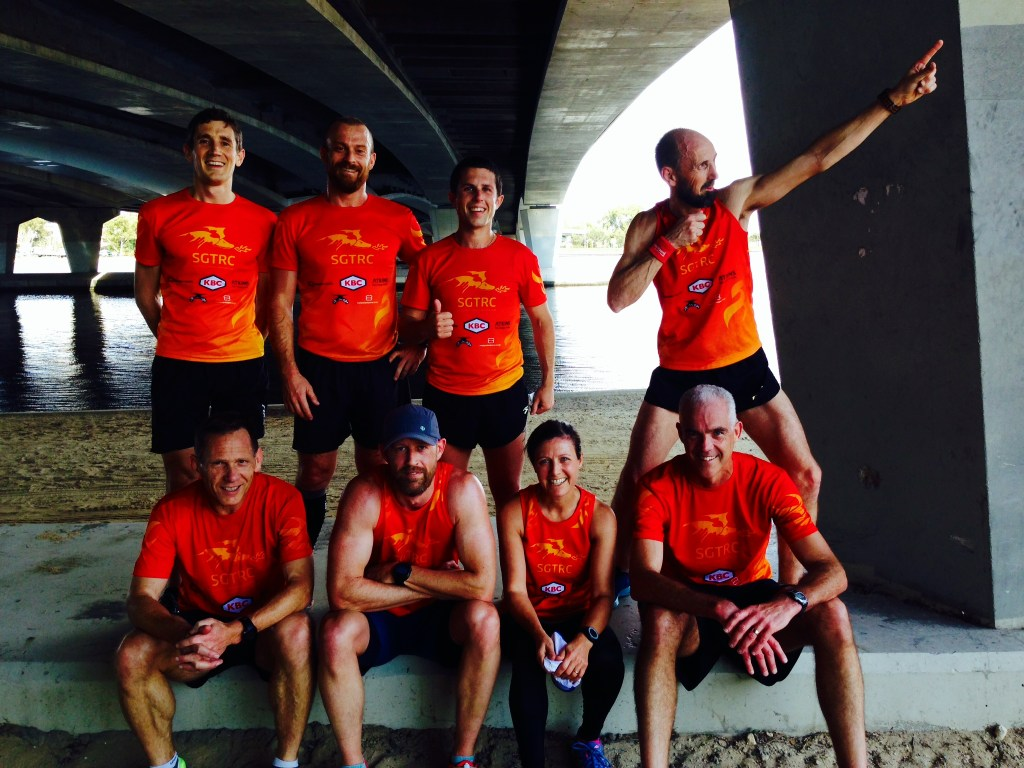 The St Georges Terrace Running Club. A finer bunch of runners you'll have trouble finding...