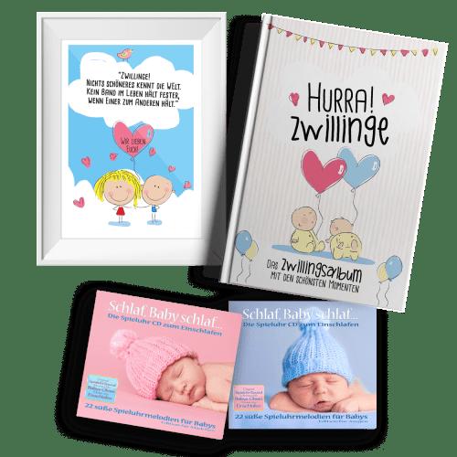 Geschenk-Set fuer Zwillinge