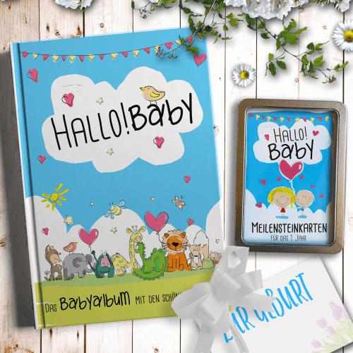 Babytagebuch-Geschenk-Set