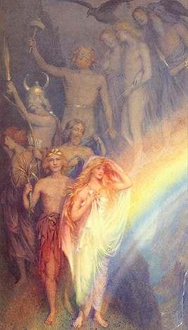 Discesa delle divinità sul Bifrost