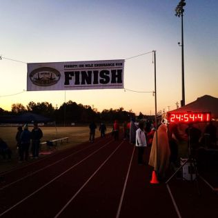 Lara finish time - Photo by Bren Tompkins
