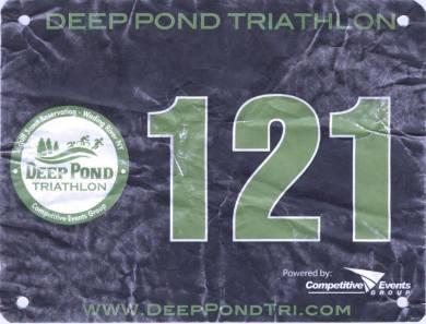 Deep Pond Sprint Triathlon 2013 . Finish in 1:57:48, swim in 40:15, bike in 46:41, run in 23:41. - at Deep Pond.