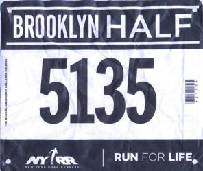 Brooklyn Half Marathon 2013. Finish in 1:33:32 - in Brooklyn, NY.