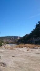 The wall, the river, the suspension bridge