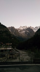 The alps from the bridge right after the starting line