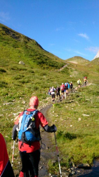 The ascent right after LAC COMBAL aid station