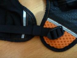 The side strap adjustment