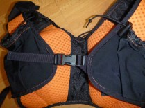 The front strap clip and adjustment